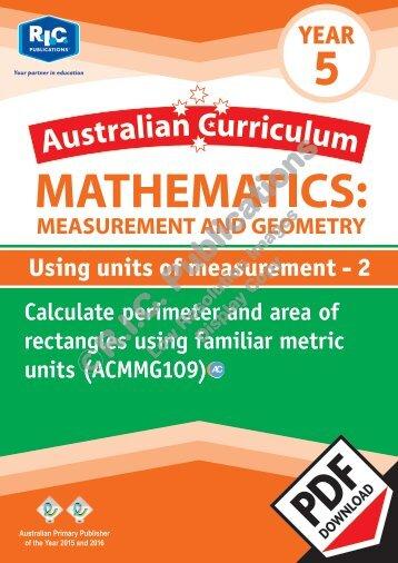 RIC-20164 ACM Measurement and Geometry (Yr 5) Using units of measurement 2