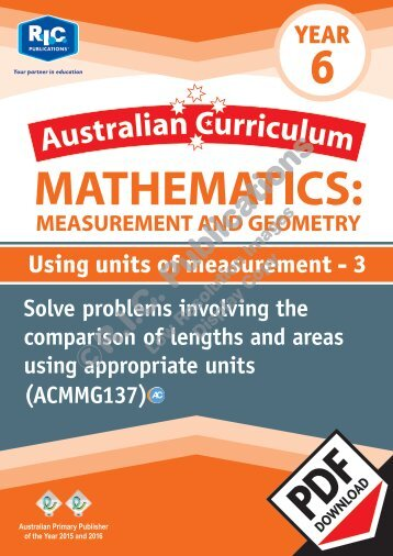 RIC-20173 ACM Measurement and Geometry (Yr 6) Using units of measurement 3