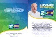 Folder de Campanha Zé Maurício 2018