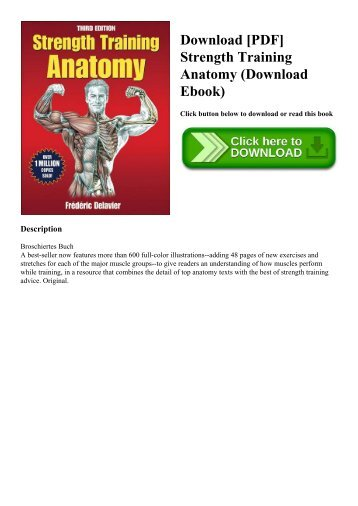 Anatomy for women for strength and fitness training pdf free download pdf strength training anatomy download ebook fandeluxe Choice Image