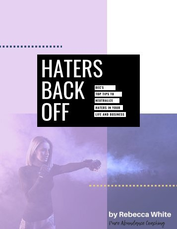 Haters Back Off eBook