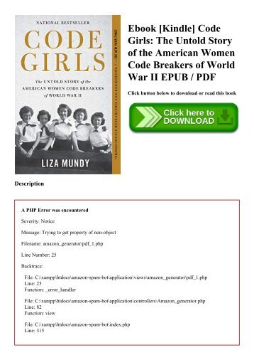 Ebook [Kindle] Code Girls The Untold Story of the American Women Code Breakers of World War II EPUB  PDF