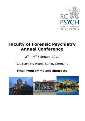 Faculty Of Forensic Psychiatry Annual Conference - Royal College ...