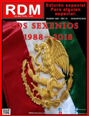 LOS SEXENIOS 1988 2018