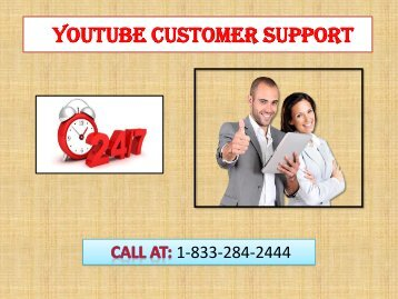 1-833-284-2444 YouTube Customer Support Number- How to Create channel