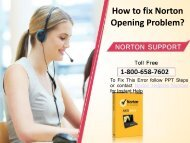 Fix Norton Antivirus not working Call 1-800-658-7602 Support Number