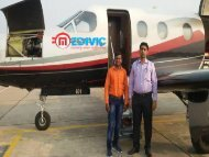 Cost of Air Ambulance Services from Guwahati to Delhi Very Low