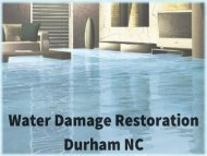 Water Damage Restoration Durham NC