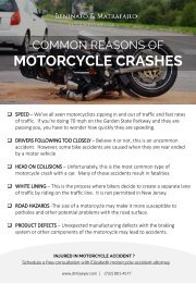 Common Reasons Of Motorcycle Crashes