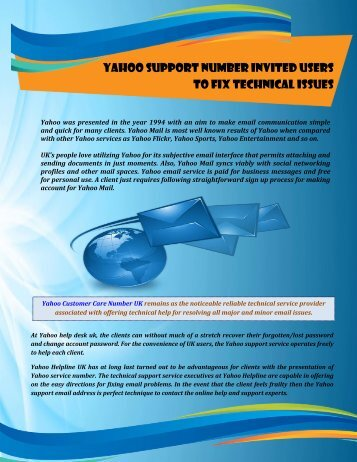 Yahoo Support Number to Fix Technical Issues