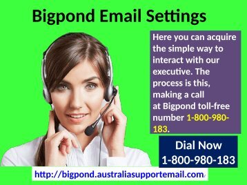 Expert Will Help You To Change Bigpond Email Settings|1-800-980-183