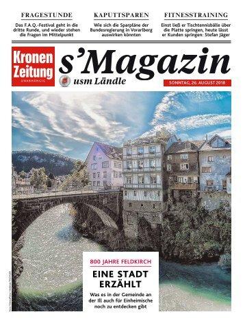 s'Magazin usm Ländle, 26. August 2018