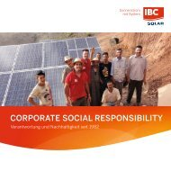 IBC SOLAR - Corporate Social Responsibility