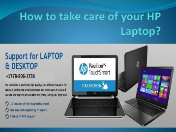 How to take care of your HP Laptop
