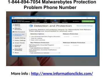 1-844-894-7054 Malwarebytes Protection Problem Phone Number