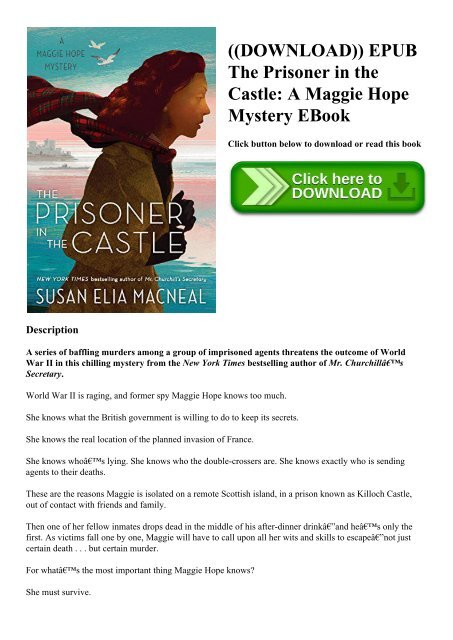 DOWNLOAD)) EPUB The Prisoner in the Castle A Maggie Hope