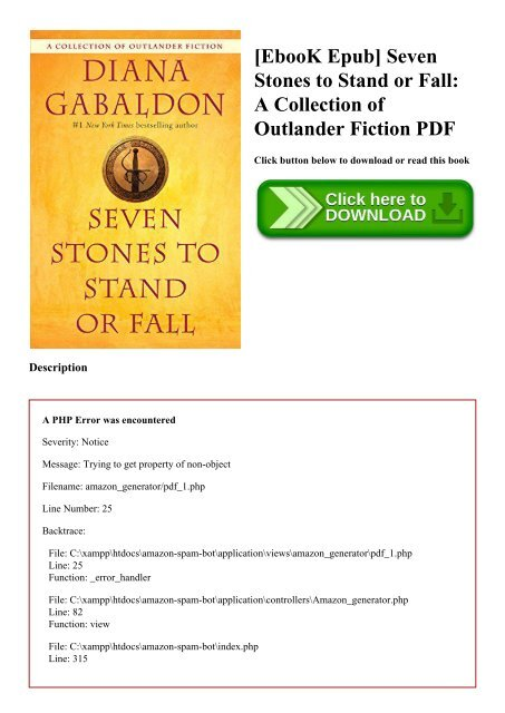 EbooK Epub] Seven Stones to Stand or Fall A Collection of Outlander
