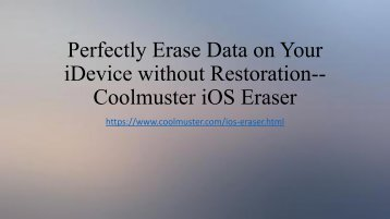 Newly released Coolmuster iOS Data Eraser
