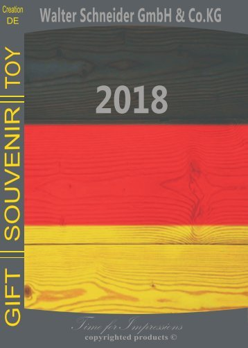 WALTER SCHNEIDER - catalog GERMANY 2018