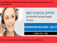 Get immediate assistance from Bigpond support experts to keep your email service flawless