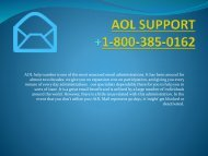 Aol Support Number- 1-800-385-0162  Customer Tollfree Service