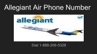 Allegiant Air Phone Number