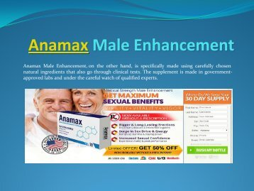 Anamax Male Enhancement Your Way To Success