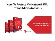 How To Protect My Network With Trend Micro Antivirus