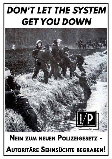 Nein zum Polizeigesetz - Autoritäre Sehnsüchte begraben!