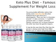 Keto Plus Diet - Famous Supplement For Weight Loss