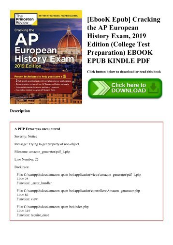 [EbooK Epub] Cracking the AP European History Exam  2019 Edition (College Test Preparation) EBOOK EPUB KINDLE PDF