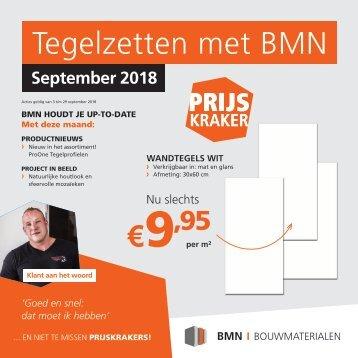BMN krant - tegelzetten met bmn > doen we. Editie september 2018