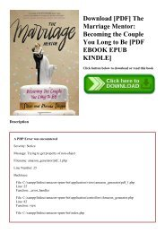 Download [PDF] The Marriage Mentor Becoming the Couple You Long to Be [PDF EBOOK EPUB KINDLE]