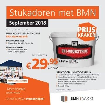 BMN Wijcks krant - stukadoren met BMN Wijcks > doen we. Uitgave september 2018