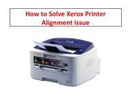 How to Solve Xerox Printer Alignment Issue