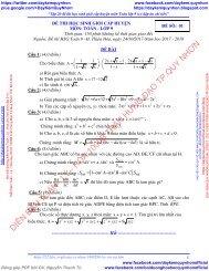 VIP-Tập 20 đề thi học sinh giỏi cấp huyện môn Toán - Lý - Hóa lớp 9 (có đáp án chi tiết)