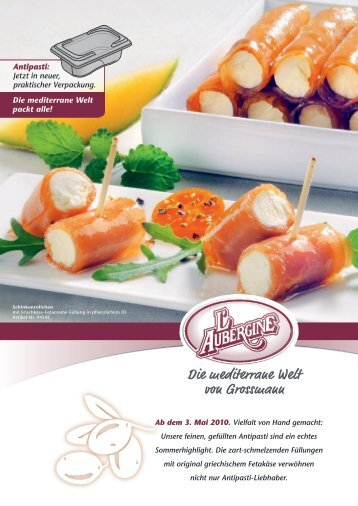 Die neue Gastronorm-Schale - Grossmann Feinkost GmbH