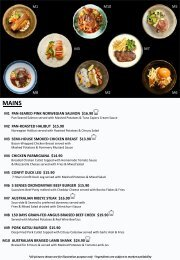 5SENSES VISTA MENU