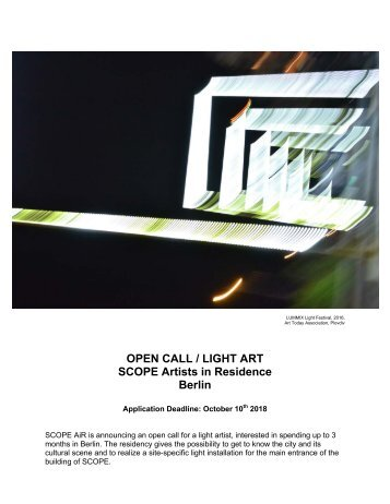OPEN CALL_Scope Air for Light Art
