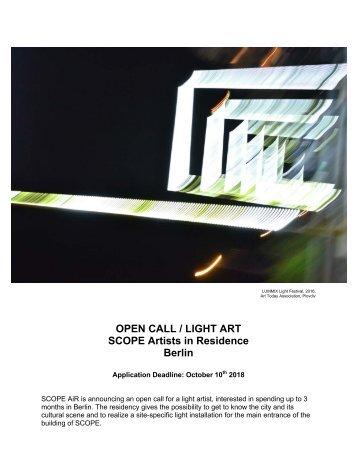 OPEN CALL_Scope Air for Light Art