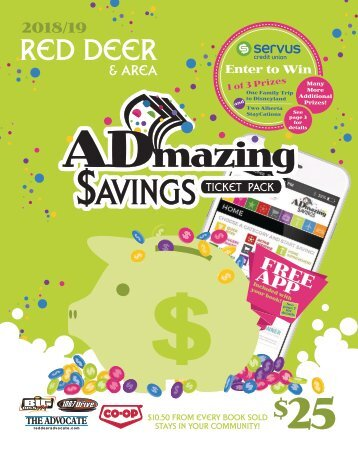 Red Deer - 2018/19 Admazing Savings Coupon Books