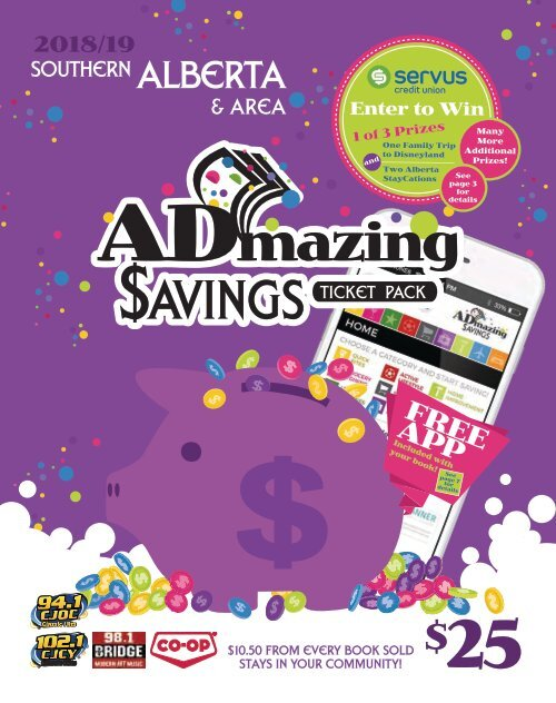 South Alberta - 2018/19 ADMAZING SAVINGS COUPON BOOKS
