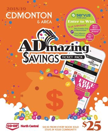 Edmonton - 2018/19 ADMAZING SAVINGS COUPON BOOK