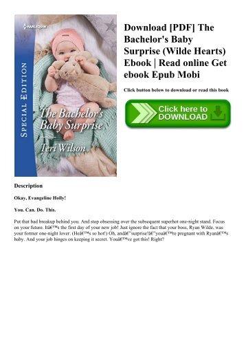Download [PDF] The Bachelor's Baby Surprise (Wilde Hearts) Ebook  Read online Get ebook Epub Mobi