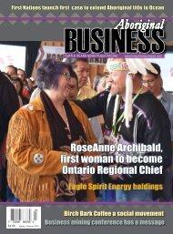 Aboriginal Business Magazine - Spring/Summer 2018