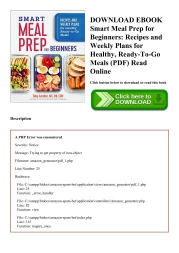 DOWNLOAD EBOOK Smart Meal Prep for Beginners Recipes and Weekly Plans for Healthy  Ready-To-Go Meals (PDF) Read Online