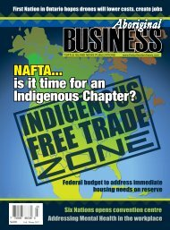Aboriginal Business Magazine - Fall/Winter 2017
