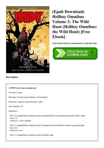 (Epub Download) Hellboy Omnibus Volume 3 The Wild Hunt (Hellboy Omnibus the Wild Hunt) [Free Ebook]
