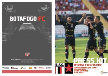 PRESS KIT: Botafogo x Botafogo (PB) - Quartas de Final - Série C
