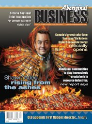 Aboriginal Business Magazine - Fall 2015